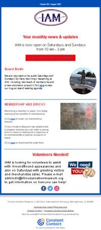 Illinois Aviation Museum FREE Newsletter